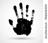 print of hand of child  cute...