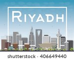riyadh skyline with gray... | Shutterstock .eps vector #406649440