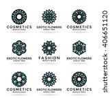 set of various flower symbols... | Shutterstock .eps vector #406651120