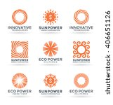 set of sun symbols and logo... | Shutterstock .eps vector #406651126