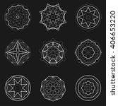 set of abstract sacred geometry ... | Shutterstock .eps vector #406653220