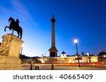 Night Shot Of Trafalgar Square...