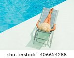 top view of a girl in the... | Shutterstock . vector #406654288