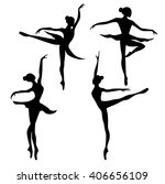 set of ballet dancer | Shutterstock .eps vector #406656109