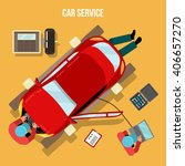 car service. car repairs and... | Shutterstock .eps vector #406657270