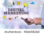 digital marketing person... | Shutterstock . vector #406658260