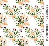 vector illustration of  floral... | Shutterstock .eps vector #406658383