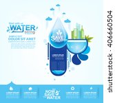 save water concept ecology... | Shutterstock .eps vector #406660504