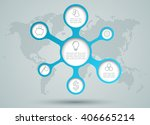 infographic circle diagram... | Shutterstock .eps vector #406665214