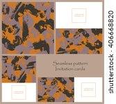 seamless pattern and brush... | Shutterstock .eps vector #406668820