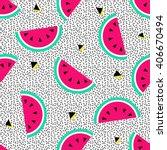 watermelon seamless pattern.... | Shutterstock .eps vector #406670494