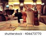view of the restaurant warm... | Shutterstock . vector #406673770