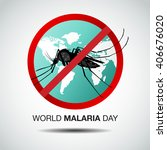 world malaria day  vector... | Shutterstock .eps vector #406676020