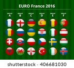 flags of euro 2016 | Shutterstock .eps vector #406681030