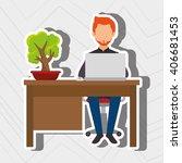 office equipment design  | Shutterstock .eps vector #406681453