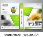 flyers design template vector.... | Shutterstock .eps vector #406686814