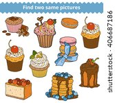 find two same pictures ... | Shutterstock .eps vector #406687186