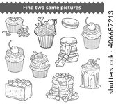 find two same pictures ... | Shutterstock .eps vector #406687213