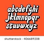 alphabet letters. lettering... | Shutterstock .eps vector #406689208