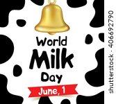 world milk day vector... | Shutterstock .eps vector #406692790