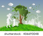 concept of eco friendly and... | Shutterstock .eps vector #406693048