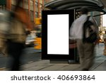 blank outdoor advertising bus... | Shutterstock . vector #406693864
