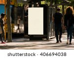 blank outdoor advertising bus... | Shutterstock . vector #406694038