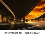city road viaduct streetscape... | Shutterstock . vector #406695634