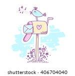 vector illustration for spring... | Shutterstock .eps vector #406704040