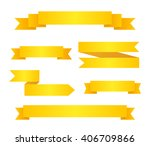 collection of yellow ribbon... | Shutterstock .eps vector #406709866