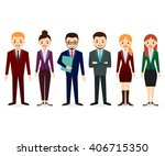male and female people icons.... | Shutterstock .eps vector #406715350
