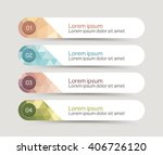 vector steps  progress banners... | Shutterstock .eps vector #406726120