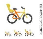 bicycle with child seat | Shutterstock .eps vector #406733104