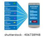 investment portfolio design... | Shutterstock .eps vector #406738948