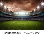 stadium light and night | Shutterstock . vector #406740199