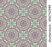 seamless pattern. vintage...   Shutterstock .eps vector #406742989