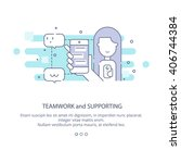 web page design template of... | Shutterstock .eps vector #406744384