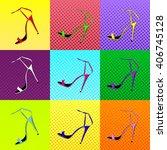 multicolored female sandals... | Shutterstock .eps vector #406745128