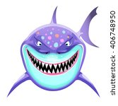 shark head cartoon cute fun... | Shutterstock .eps vector #406748950