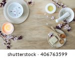 natural calming colored spa...   Shutterstock . vector #406763599