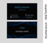 abstract business card design... | Shutterstock .eps vector #406764994