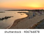coral bay beach at sunset ... | Shutterstock . vector #406766878