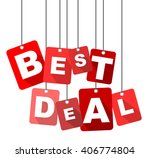 best deal  red vector best deal ...