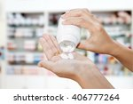 hand of doctor holding medicine