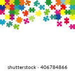 vector abstract white... | Shutterstock .eps vector #406784866