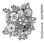 zen doodle or zen tangle... | Shutterstock .eps vector #406788580