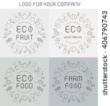 organic labels set  | Shutterstock .eps vector #406790743