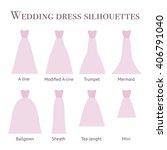 wedding dress silhouettes pink... | Shutterstock .eps vector #406791040