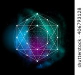 sacred geometry abstract vector ... | Shutterstock .eps vector #406793128