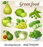 set of cartoon icons. green... | Shutterstock .eps vector #406794049